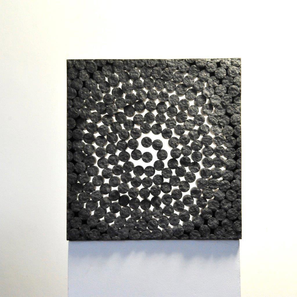 """""""Stein für das Licht"""", 2015, schwarzer schwedischer Granit, 42 x 41 x 12 cm"""